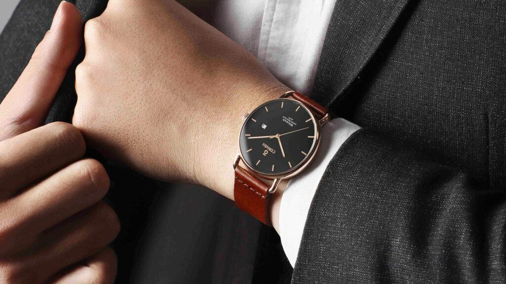 Đồng hồ dây da nam đẹp Weimar Herbert