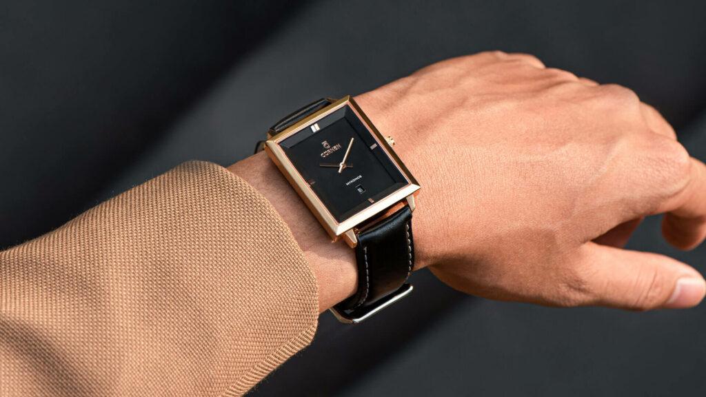 Đồng hồ dây da nam đẹp Mykonos Alexei