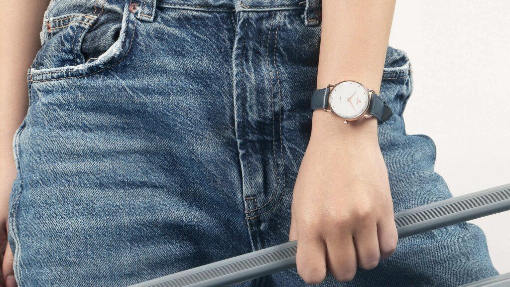 Curnon Hamilton Lydia women's leather watch