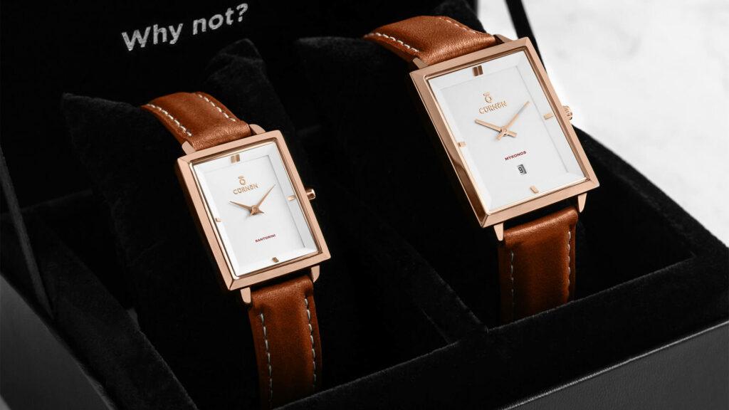Quà sinh tặng người yêu - tặng đồng hồ đôi Curnon