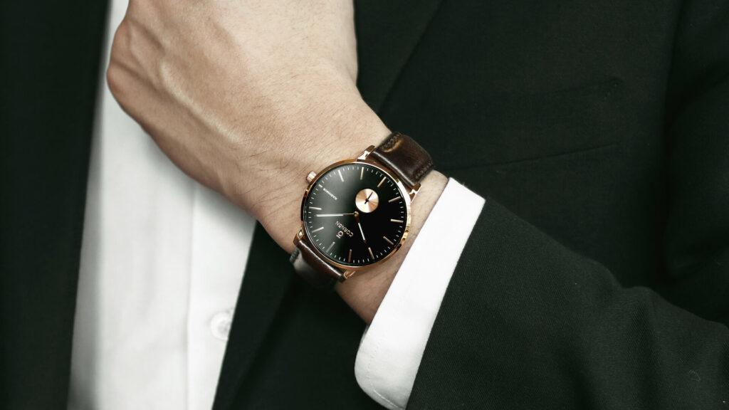 Đồng hồ Minimalist dây da mảnh