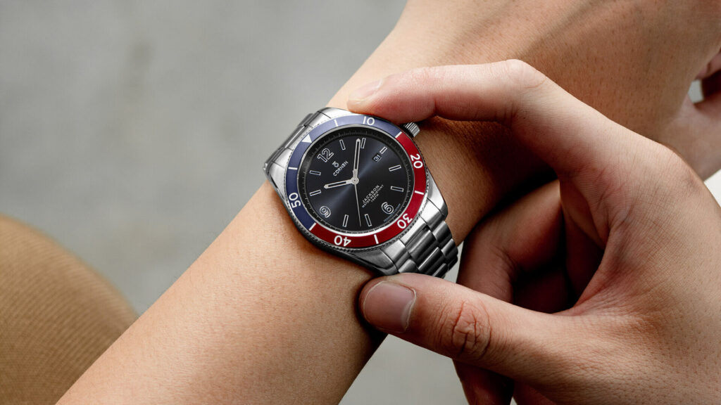 Fashionable men's watches with outstanding colors